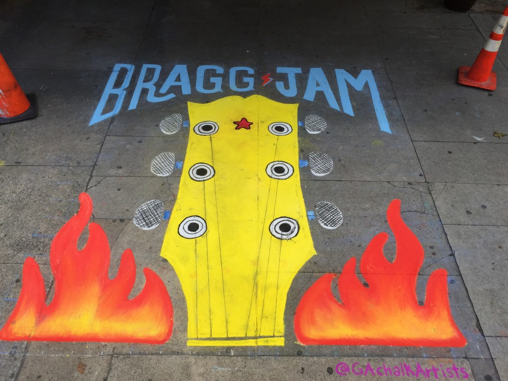 Bragg Jam guitar with flames