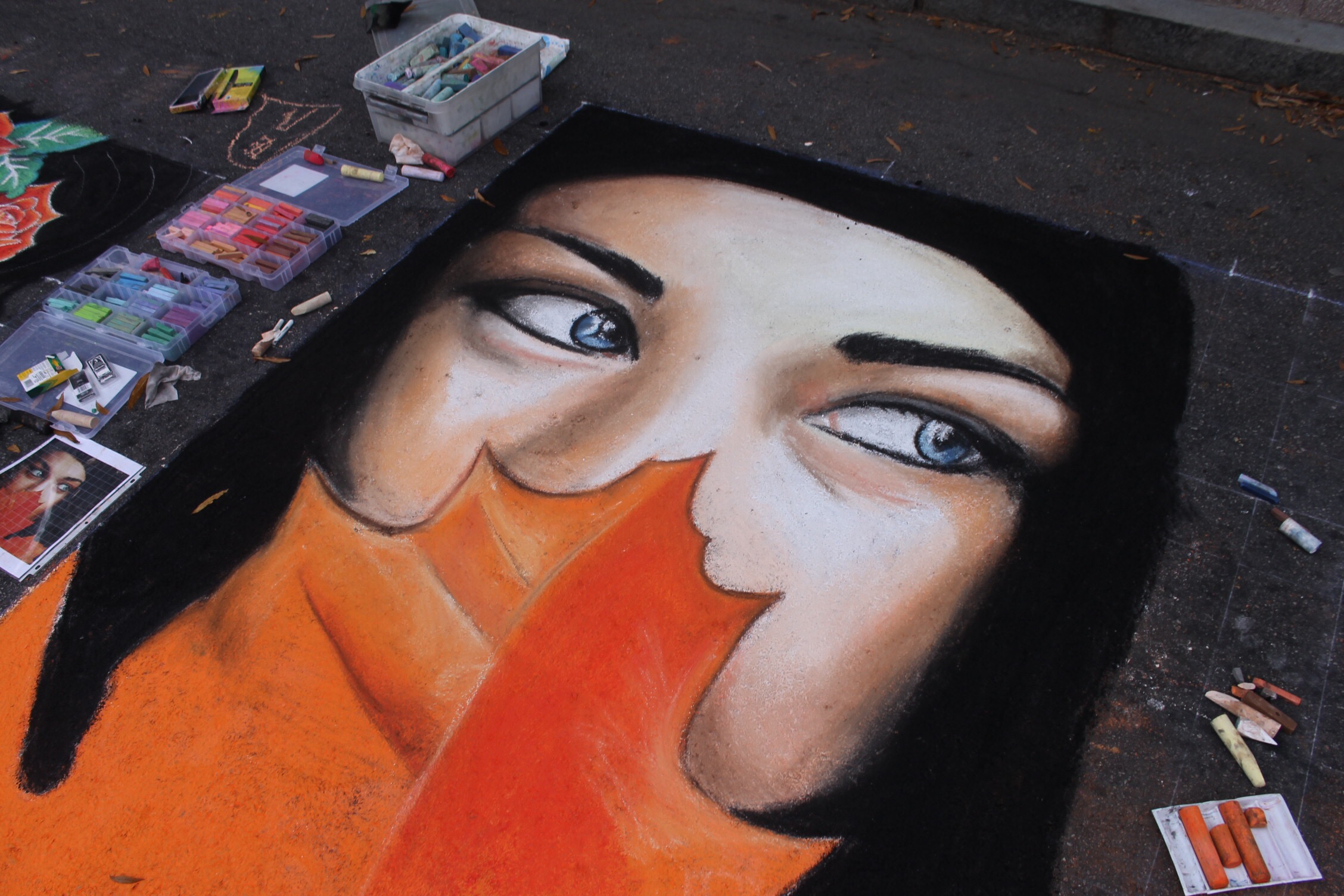 Our very first Pop Up Chalk Festival