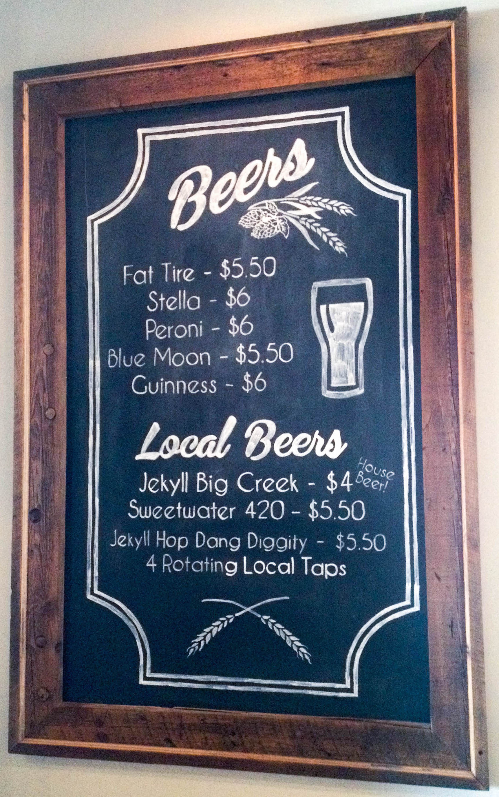 Hand Lettered Chalk Boards