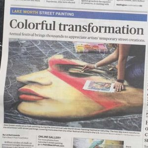 Newspaper featuring the work of Jessi Queen.