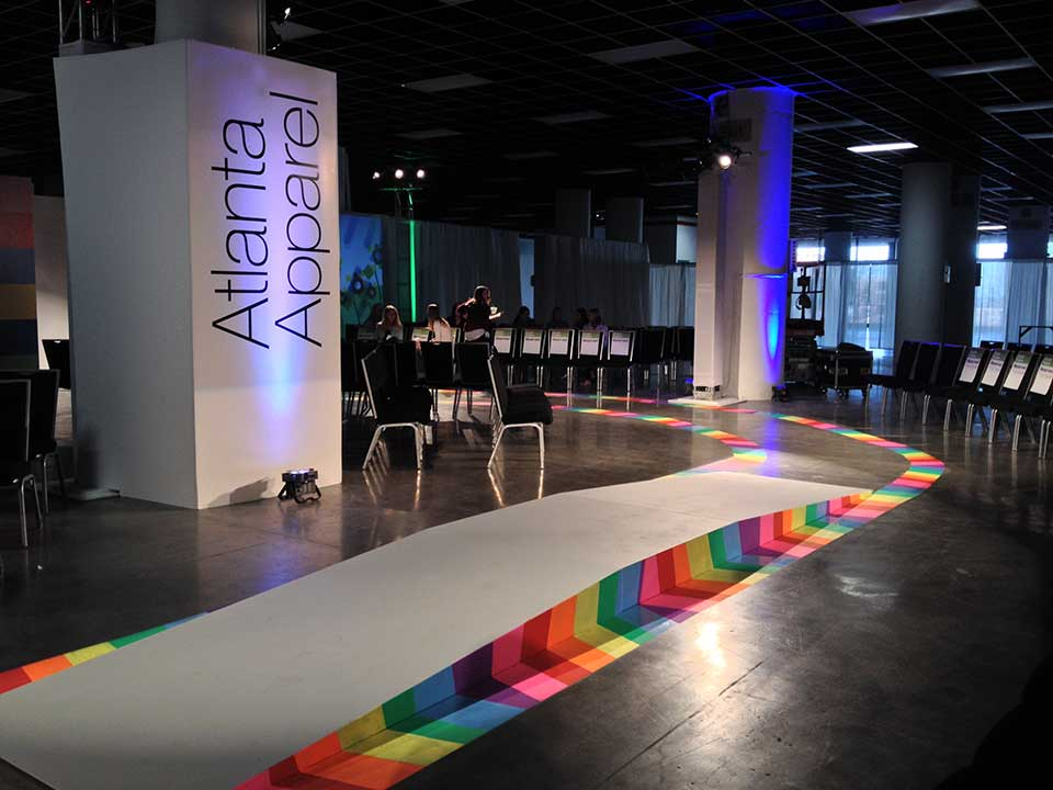 Chalking the Runway for Children's Hospital of Atlanta Benefit Fashion Show