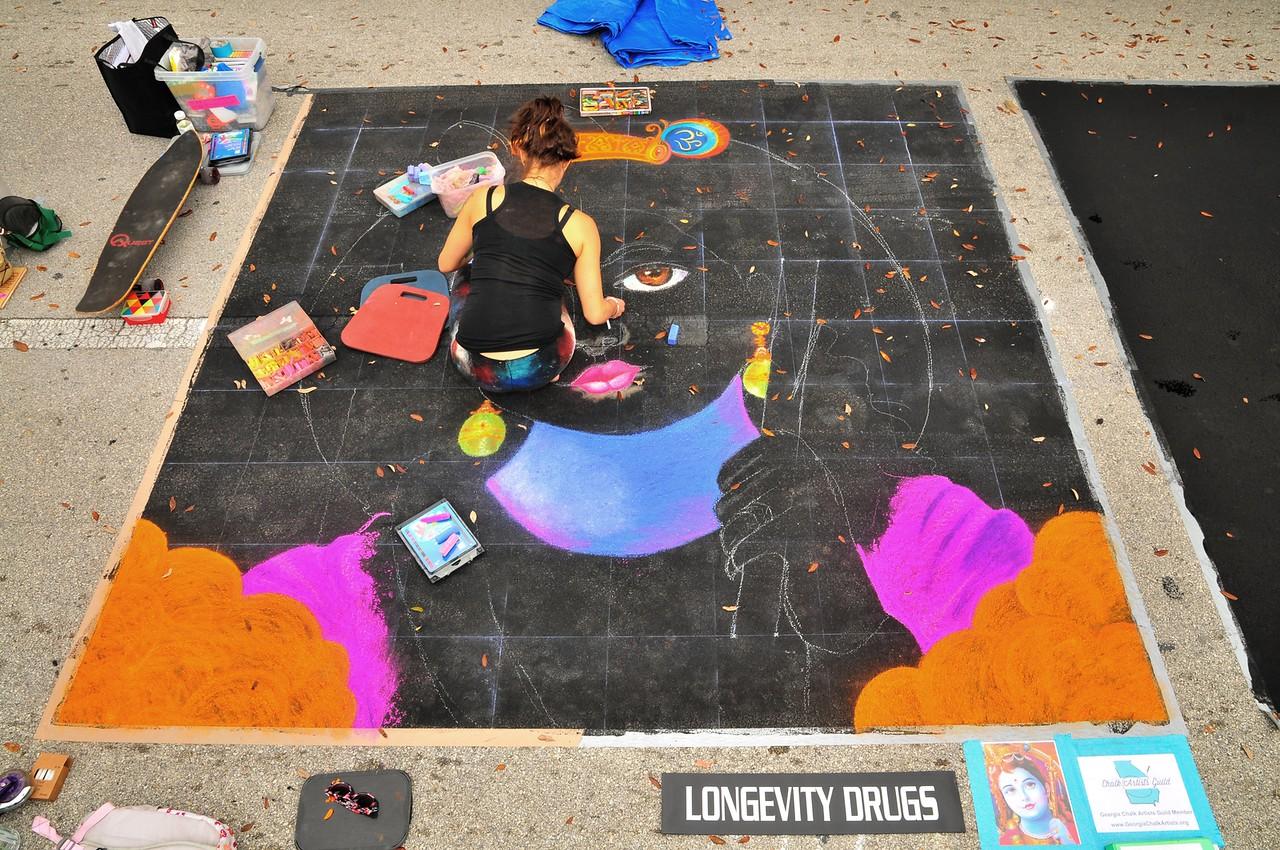 Chalk 101- Using the grid method to make Chalk art