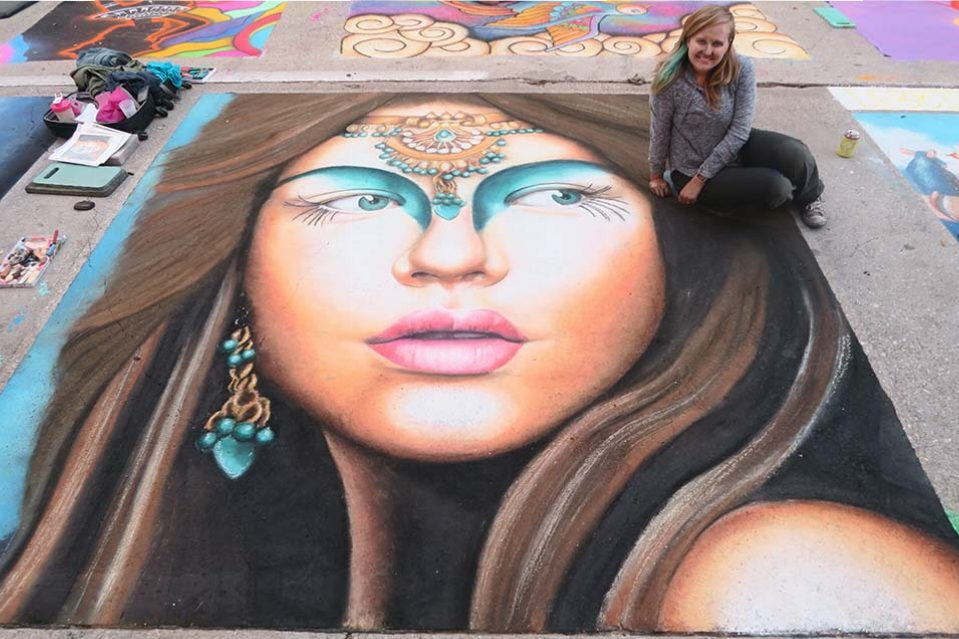 Jessi Queen Final Chalk Art