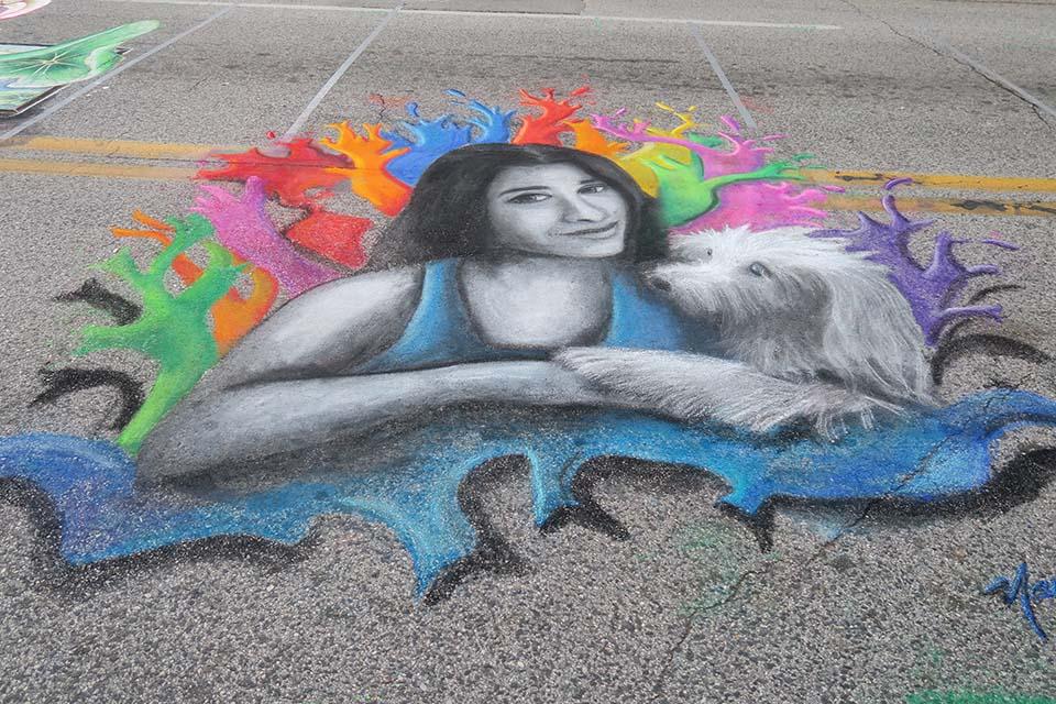 Nancy's Chalk Drawing