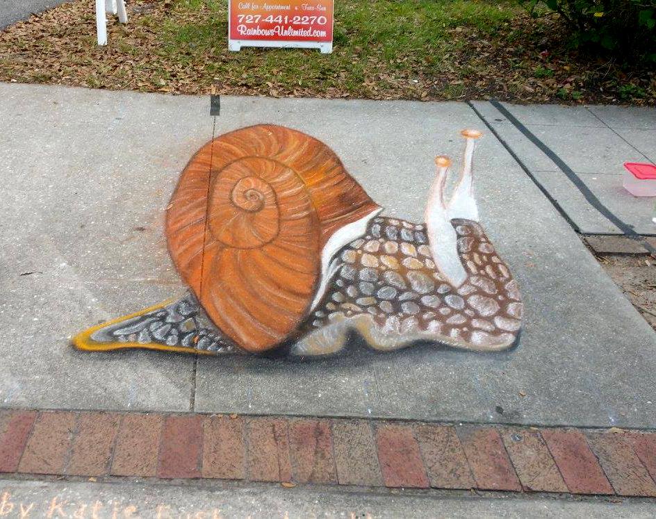 Bloom'n Chalk Fest Snail 2016