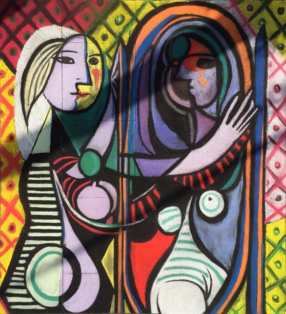 Zach's Finished work: Picasso's Girl before a Mirror