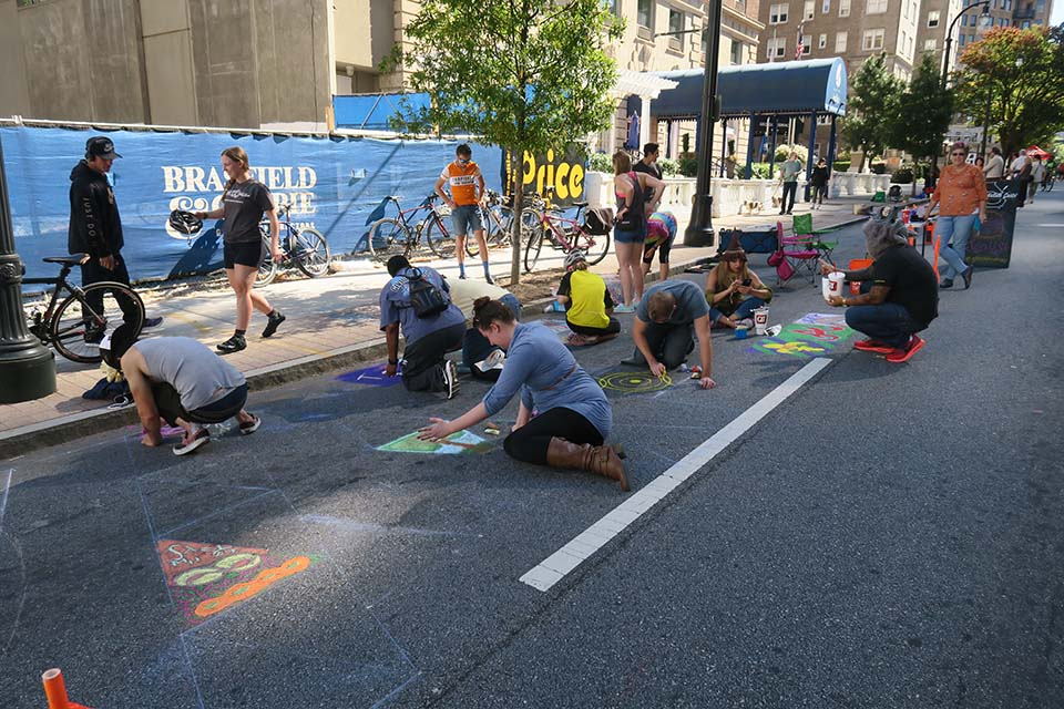 Chalk Art on Peachtree St