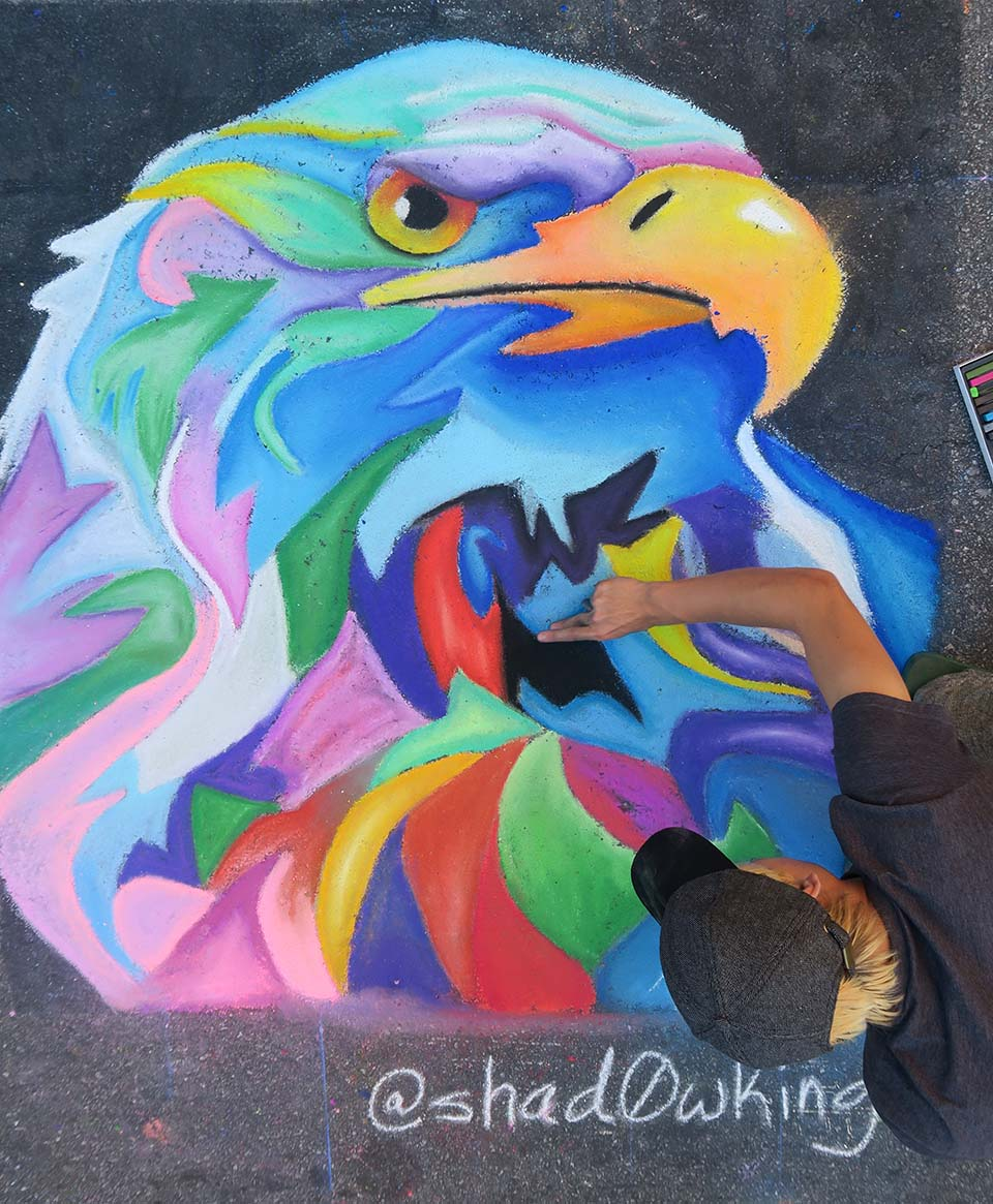 Colorful Chalk Eagle