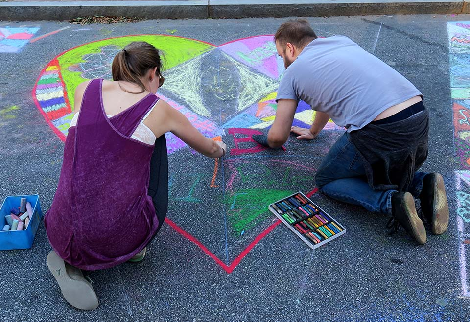Heart Community Chalk Art
