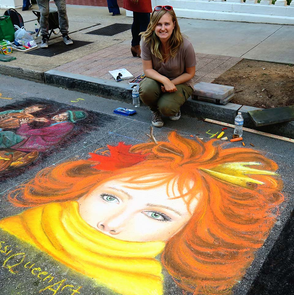 Jessi Queen Fall Chalk Art Face