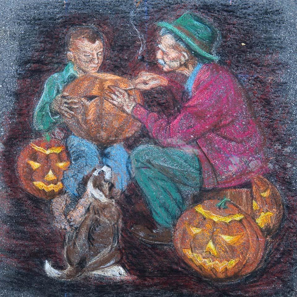Adam Dunlap Rockwell Chalk Art