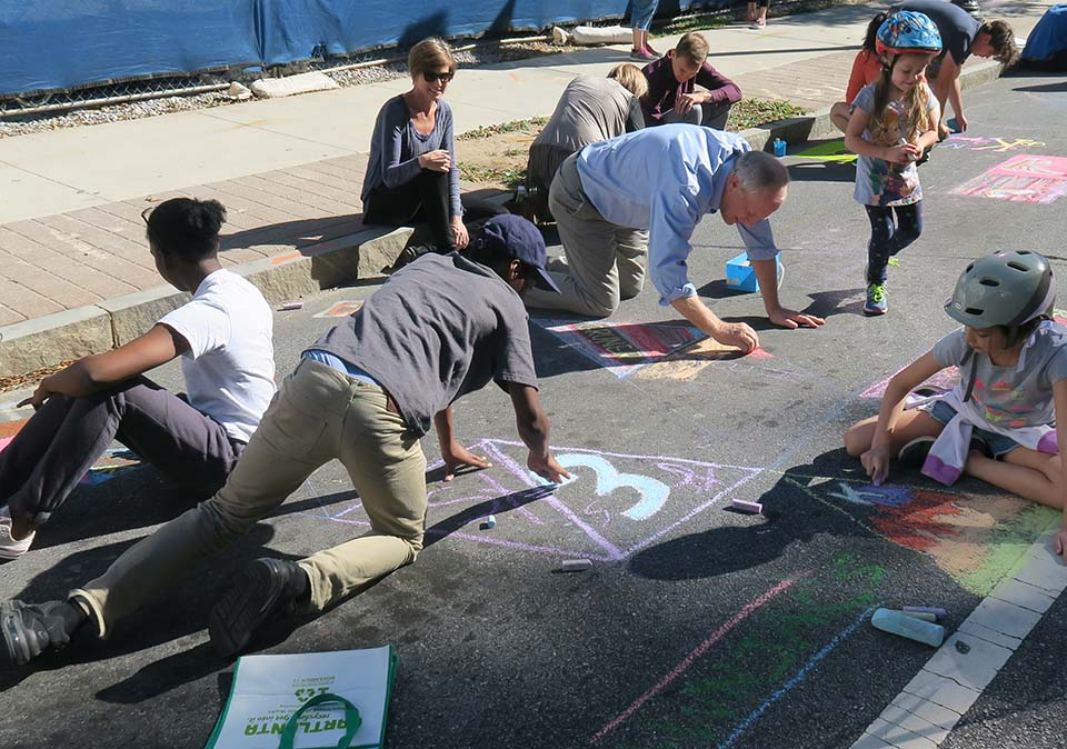All ages chalk together