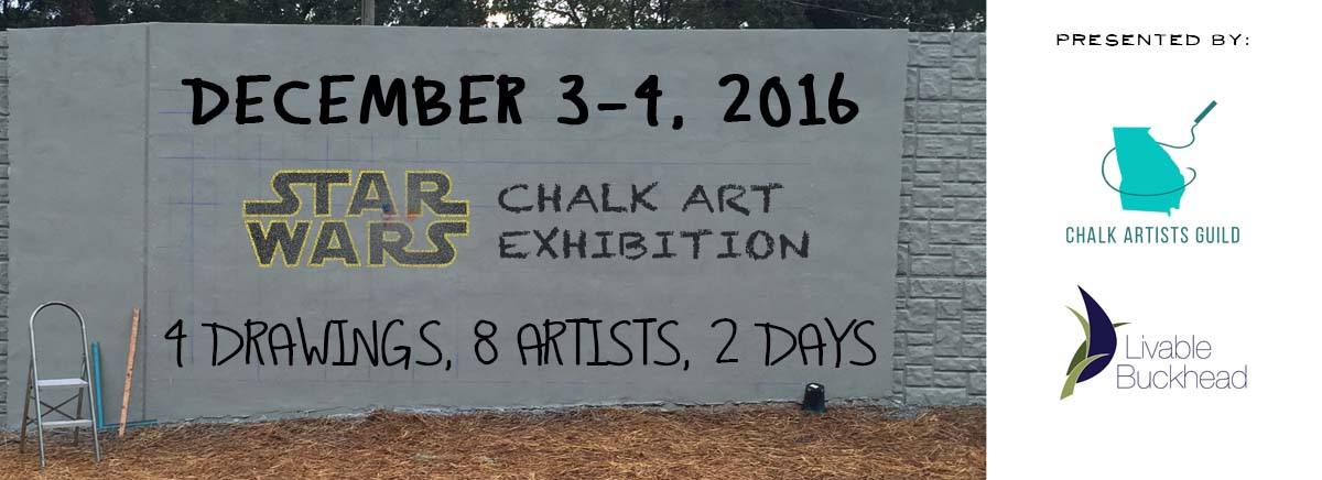 Starwars Chalk Art Path400