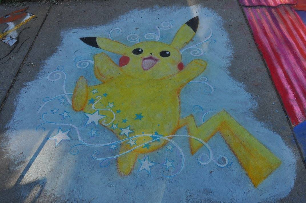 Gotta Chalk Em' All : Pokémon Street Painting