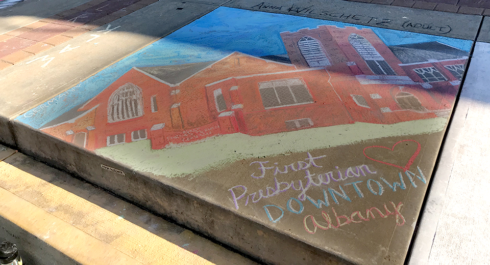 Albany-chalk-fest-community-chalk-church
